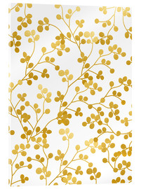 Acrylic glass  Golden Vines - Uma 83 Oranges