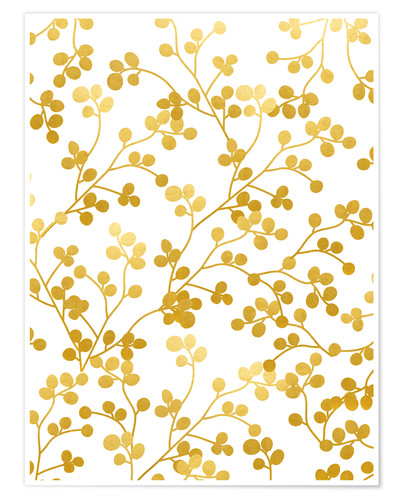 Premium poster Golden vines