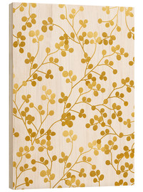 Wood print  Golden vines - Uma 83 Oranges