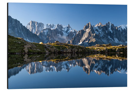 Aluminium print  Grandes Jorasses reflected in Lac De Cheserys, France - Roberto Sysa Moiola