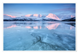 Premium poster Sunrise,Lyngen Alps,Troms,Norway