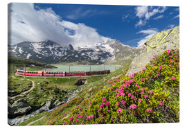 Canvas  Bernina Express train, Engadine, Switzerland - Roberto Sysa Moiola