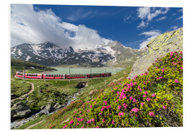 Foam board print  Bernina Express train, Engadine, Switzerland - Roberto Sysa Moiola