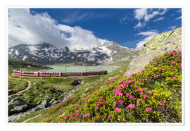 Roberto Sysa Moiola - Bernina Express train, Engadine, Switzerland