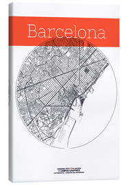 Canvas  Barcelona Card City Black and White - campus graphics