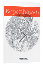 Forex  Copenhagen map city black and white - campus graphics