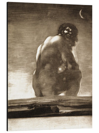 Alu-Dibond  A Giant Seated in a Landscape, The Colossus - Francisco José de Goya