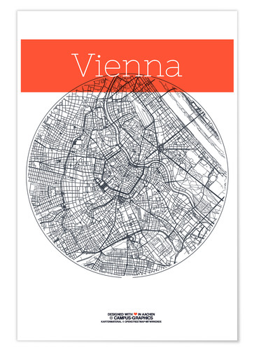 Premium poster Vienna Map County
