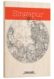 Wood  Singapore map city black and white - campus graphics