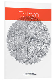 Foam board print  Tokyo map circle - campus graphics
