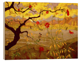 Wood print  Apple Tree with Red Fruit - Paul Ranson
