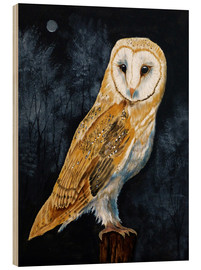 Wood print  Barn Owl - Paul Ranson