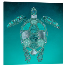 Acrylic glass  Mermaid  Turtle - Andrea Haase