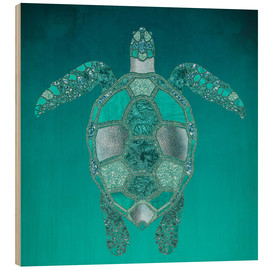 Wood print  Mermaid Turtle - Andrea Haase