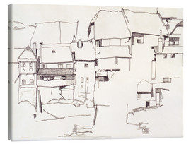 Canvas print  Old houses in Krumau - Egon Schiele