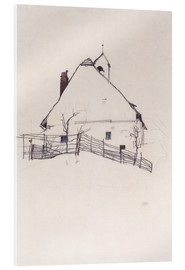 Acrylic print  Residential house with fence - Egon Schiele