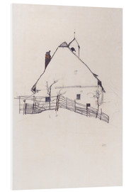 Foam board print  Residential house with fence - Egon Schiele