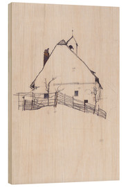 Wood  Residential house with fence - Egon Schiele