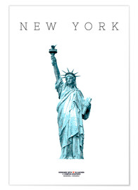 Premium poster  New York City Statue of Liberty - campus graphics
