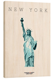 Wood  New York City Statue of Liberty - campus graphics