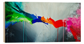 Wood print  The Colorful 1 - Yannick Leniger