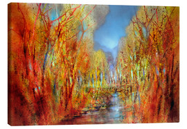 Canvas  The forests colorful - Annette Schmucker