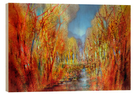 Wood print  The forests colorful - Annette Schmucker