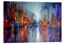 Acrylic print  City by the river - Annette Schmucker