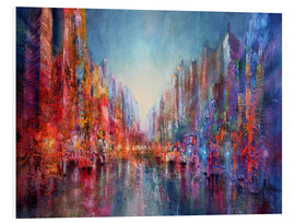 Foam board print  city on the river 2 - Annette Schmucker