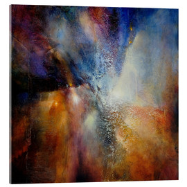 Acrylic print  Composition in brown and blue - Annette Schmucker