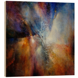 Wood print  Composition in brown and blue - Annette Schmucker