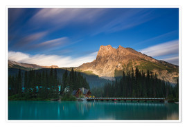 Premium poster Emerald Lake, British Columbia - Long Exposure