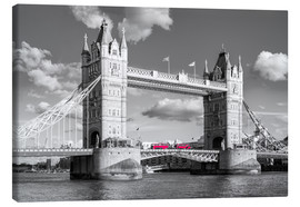Canvas  London, Tower Bridge Black and White - rclassen