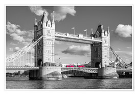 Poster London, Tower Bridge Black and White
