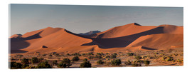 Acrylic glass  Dune landscape in the Sossusvlei, Namibia - Circumnavigation