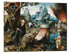 Foam board print  The temptations of St. Anthony - Hieronymus Bosch