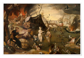 Premium poster  The Temptations of St. Anthony - Hieronymus Bosch