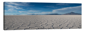 Canvas print  Panorama salt lake Salar de Uyuni - Circumnavigation