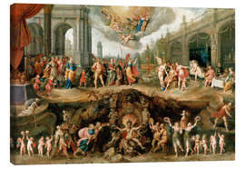 Canvas  Mankind's Eternal Dilemma – The Choice Between Virtue and Vice - Frans Francken II
