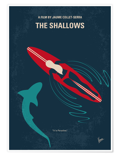 Premium poster No836 My The Shallows minimal movie poster