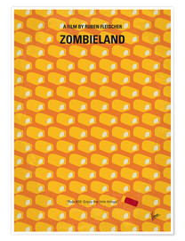 Premium poster No829 My Zombieland minimal movie poster