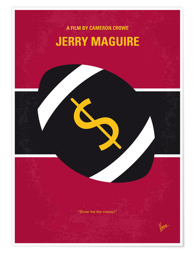 Premium poster No838 My Jerry Maguire minimal movie poster