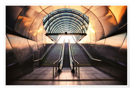Premium poster Futuristic Metro entrance in Prague