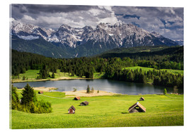 Acrylic print  Karwendel mountains with lake in the Alps - Dennis Fischer