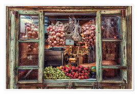 Premium poster Window with vegetables