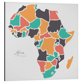 Aluminium print  Africa map modern abstract with round shapes - Ingo Menhard