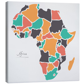 Canvas print  Africa map modern abstract with round shapes - Ingo Menhard