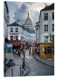 Acrylic print  Streets of Montmartre and Sacre Coeur - Jan Christopher Becke