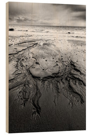 Wood print  Shapes in the sand - Andreas Kossmann