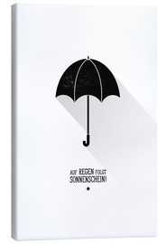 Canvas print  Umbrella - The sun will always shine after the rain. - Black Sign Artwork